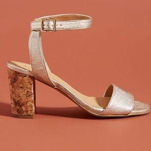 anthropologie elizabeth cork heeled.sandal